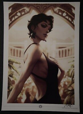 2018 NYCC Catwoman Stanley Artgerm Lau Signed Art Print