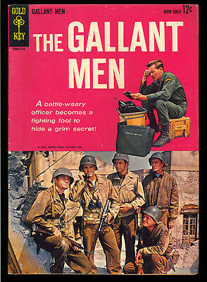 Gallant Men #1 Nice First Issue Gold Key TV Photo Cover Comic 1963 VG-FN