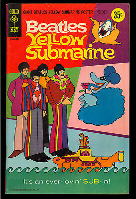 Movie Comics: The Beatles Yellow Submarine (with Poster) Very Nice 1968 FN-VF