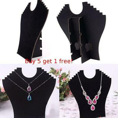 Necklace Bust Jewelry Pendant Chain Display Holder Stands Neck Velvet Easel