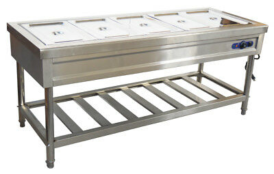 """72"""" -5- Pan /Restaurant Electric Steam Table Buffet Food Warmer - 110V With Pans"""