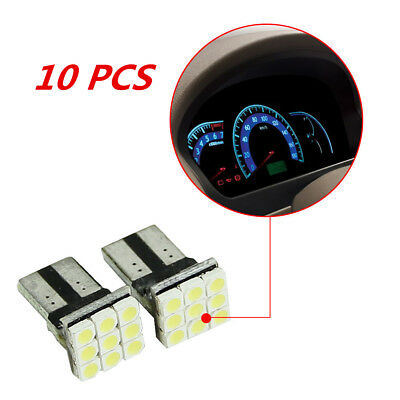 10X White T10 LED 9SMD Car License Plate Light Tail Bulbs 2825 192 194 168 W5W
