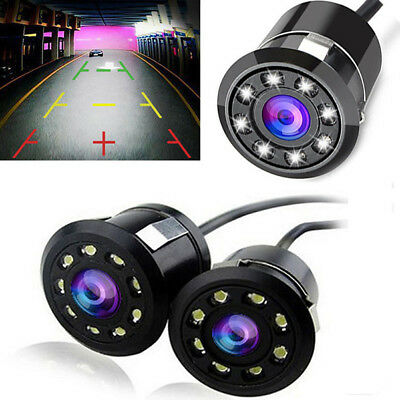 Car Reversing Rear View IR Camera Parking Backup Night Visions 8LED Waterproof Z