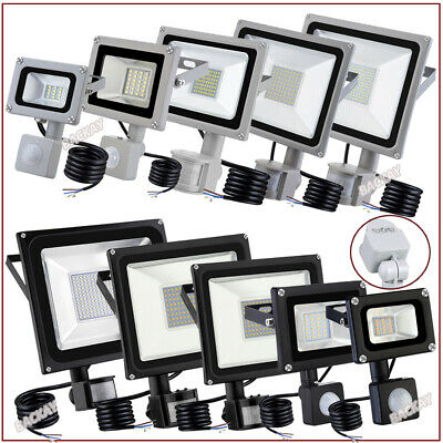 100W PIR Motion Sensor LED Floodlights 10W 20W 30W 50W Outdoor Security Light UK