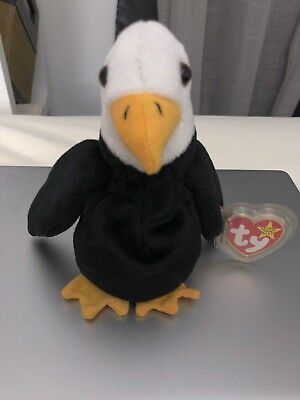 Ty Beanie Baby Baldy, RARE, RETIRED, w/ Error Made for Korean Market 1996