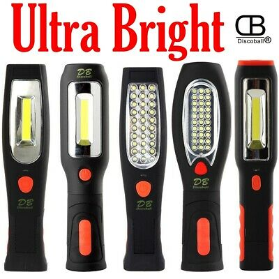 COB LED Li-Ion Rechargeable Inspection Lamp Torch Magnetic Cordless Work Light