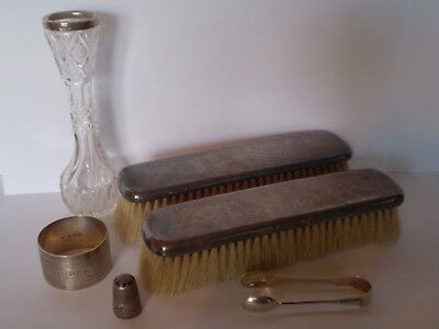 Job Lot Of Antique Solid Silver Items, Ideal For Scrap/resale Or Repair