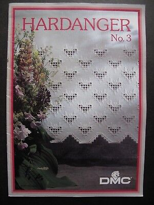 HARDANGER No. 3 by D.M.C. - Embroidery Pattern book