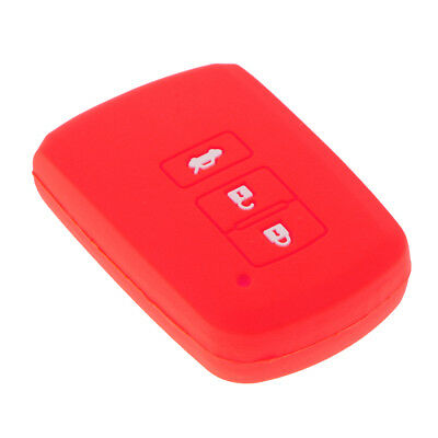 Car Remote Key Case Cover Key Case 3 Button Smart For Toyota Camry RAV4 Red