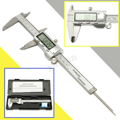 """Stainless Steel Electronic Digital Vernier Caliper Micrometer Guage LCD 6"""""""