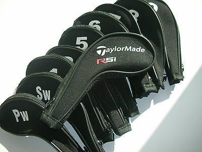 11 x Taylormade Rsi Golf Club Iron Covers Zipped Headcovers