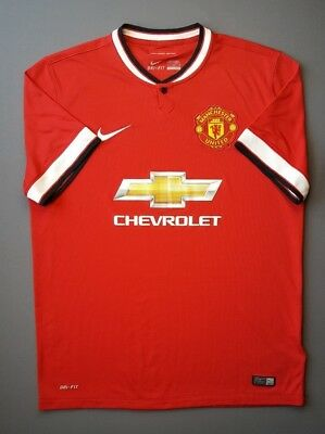 b1ee175e0f1 4.8 5 Manchester United Jersey Shirt Large Football Soocer 2014 2015 Home  Nike