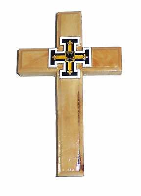 Medieval Holy Land Crusades Teutonic Knights Olive Wood Battle Cross Symbol Wall