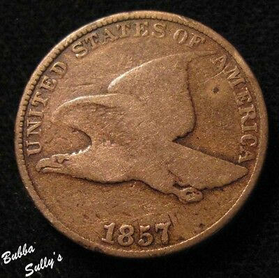 1857 Flying Eagle Cent <> VERY GOOD