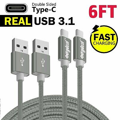 2x 6 FT USB Sync Charge Fast Charger Type C Cable for LG G6 G7 V20 V30