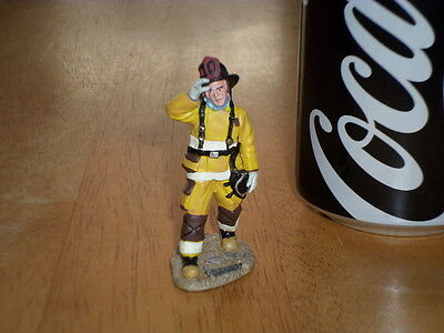 FIREFIGHTER, CHICAGO FIRE DEPARTMENT, CORGI TOY, Hand-Painted Metal Figure, 1/32