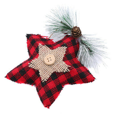 Christmas Tree Hanging Ornaments Five-pointed Star Ornament Decoration Gift Z
