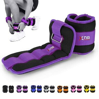 XN8 Neoprene Ankle Straps Gym Weights Running Adjustable Resistant Leg Wrist 2x