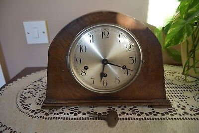 German Haller Westminster Chimes Mantle Clock - Good working.
