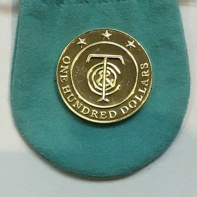 Tiffany & Co. Money - One Hundred 100 Dollars - Redeemable Yellow Token Coin