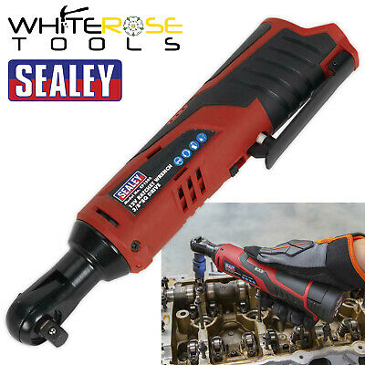 "Sealey 12V Cordless 3/8"" Drive Ratchet Wrench Body Only Heavy Duty LED Indicator"