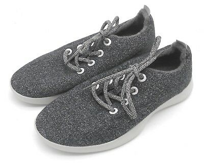 J6035L New Women's Allbirds Wool Runners Lace Up Natural Gray 9 M