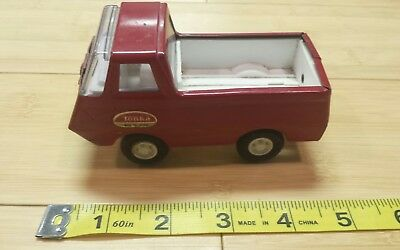 Vintage Tonka 1960s Red Pick up Delivery truck Mound Minn 4.5 inch Metal Toy