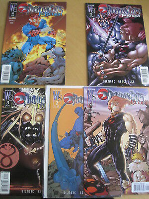 """THUNDERCATS : """"The RETURN"""",COMPLETE 5 ISSUE WILDSTORM/ DC 2003 SERIES by GILMORE"""