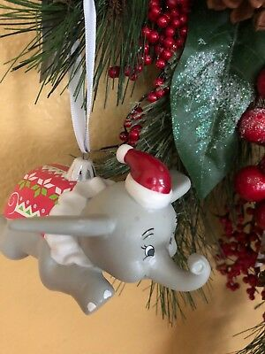 Disney 2018 Dumbo With Santa Cap Christmas Ornament