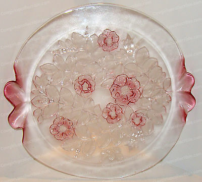 Vintage Rosella (Mikasa Crystal) Cake Stand (4223/7) Fluted Sides, Walther Glas