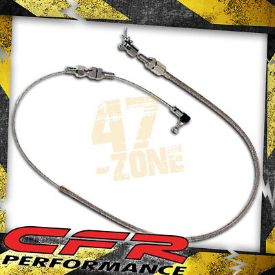 """24"""" Stainless Braided Throttle Cable Kit - Universal"""