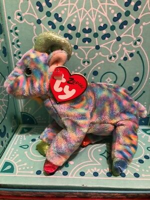Ty Beanie Babies GOAT Chinese Zodiac Plush Toy Retired Hang Tags 2000