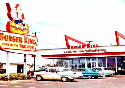 Burger King Whopper Drive-In  1960 Chevrolet