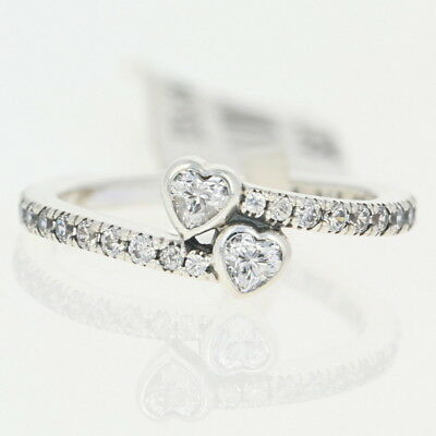 NEW Authentic Pandora Forever Hearts Ring - Sterling Clear CZ 191023CZ 58 8.5