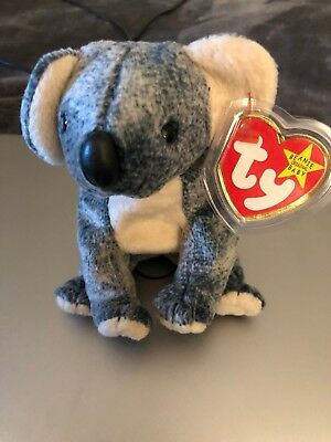 TY Beanie Baby Eucalyptus - Mint Condition, No Stamp, GOSPORT Spelling Error