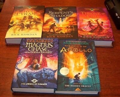 6 RICK RIORDAN Books Full Set The Kane Chronicles 1-3+ 2 ...