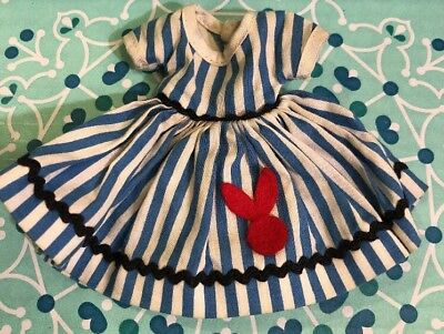 """Vintage 8"""" Betsy McCall Doll Schoolgirl Dress With Bunny"""