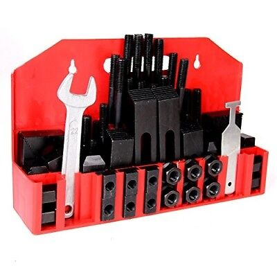 """5/8"""" T-Slot Clamp Kit 58 pcs 1/2""""-13 Stud Hold Down Clamping Set Tool Bolts Nuts"""
