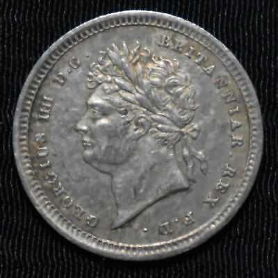 1830 Great Britain, George Iv Maundy 2 Pence, Km 684, About Uncirculated