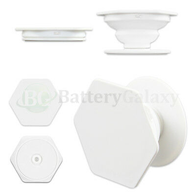 25X Universal Pull Up Phone Samsung Holder Grip Hexagon Mount Expand Stand WHITE