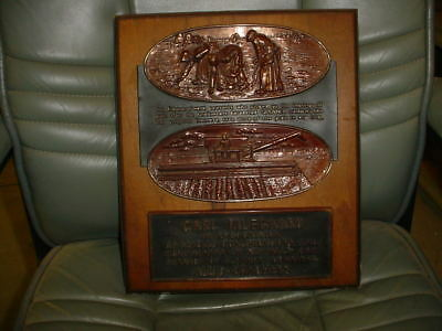 Allis Chalmers RECOGNITION PLAQUE SALE AND SERVICE OF GLEANER COMBINES