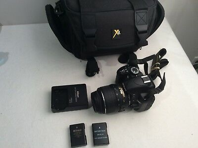 Nikon D3100 14.2MP Digital SLR Camera w/ AF-S DX VR 18-55mm Lens Mint +extras