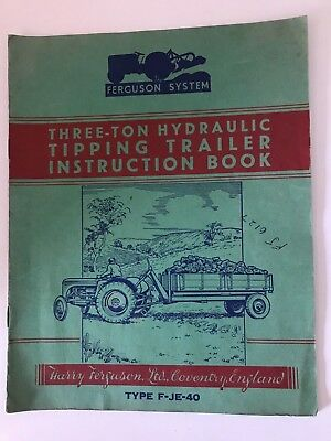 The Ferguson System-Hydraulic Tipping Trailer Instructions Old Tractor -1948
