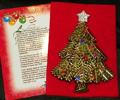 2008 Avon Christmas Tree Brooch Or Pin - 5Th Annual