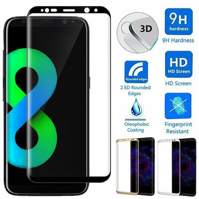 For Samsung Galaxy S8/S8 Plus 3D Full Cover Tempered Glass Film Screen Protector