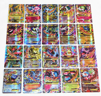 EX All MEGA 60pcs Pokemon Holo Flash Trading Cards No Repeat Charizard Venusaur