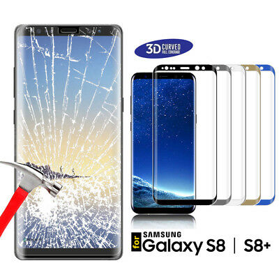 Full Curved 3D Tempered Glass Screen Protector For Samsung Galaxy S8 S8+ Note 8