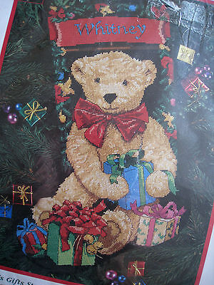 """Dimensions Christmas Needlepoint Stocking Craft Kit,TED E. BEAR'S GIFTS,9119,16"""""""