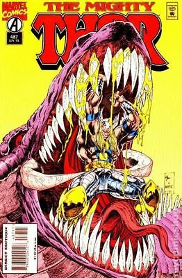 Thor (1st Series Journey Into Mystery) #487 1995 VG Stock Image Low Grade