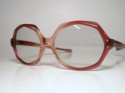 NOS 60s-70s Sunglasses AO American Optical SUNVOGUES APPEAL Cranberry Tintomatic